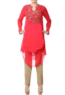 coral-red-embellished-tunic