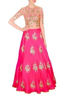 pink-embellished-lehenga-beige-bodysuit