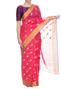 pink-handwoven-sari-with-motifs