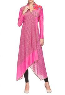 pink-overlapping-printed-kurta