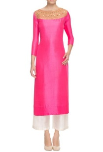 pink-sequin-and-thread-embellished-kurta-with-palazzos
