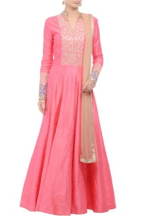 pink-tilla-embroidered-anarkali-set