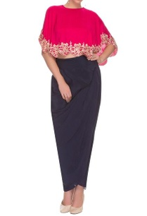 pink-zardosi-work-cape-top-drape-skirt