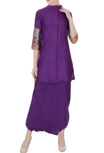 violet-moonga-silk-kurta-with-pure-satin-silk-dhoti