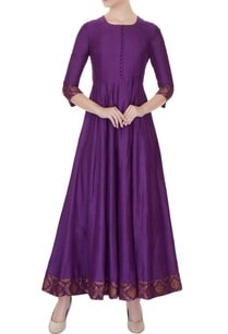 violet-moonga-silk-kurta-with-brocade-silk-border