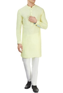 pastel-yellow-kurta-white-pants