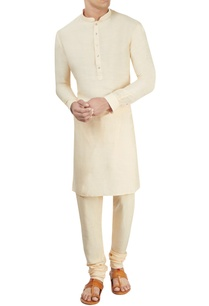 cream-kurta-churidar