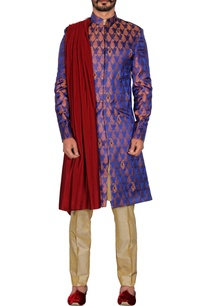 purple-paisley-brocade-sherwani