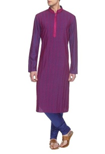 purple-electric-blue-embroidered-kurta-set