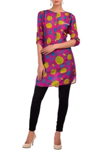 purple-yellow-floral-printed-tunic