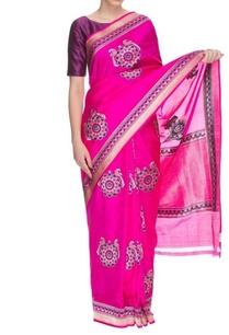 raani-blue-peacock-motif-handwoven-sari