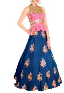 raani-floral-embellished-peplum-jacket-with-blue-lehenga