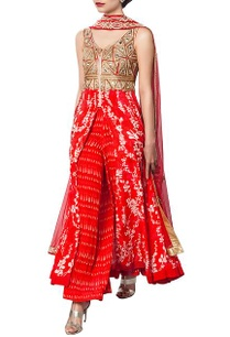 red-printed-and-embellished-kurta-set-printed-blouse