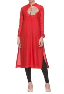 red-sequin-embellished-kurta