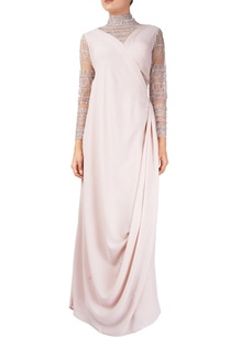 pink-georgette-silk-toga-gown