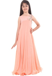 peach-chiffon-embroidered-flowy-gown
