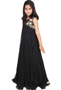 black-chiffon-embroidered-flowy-gown