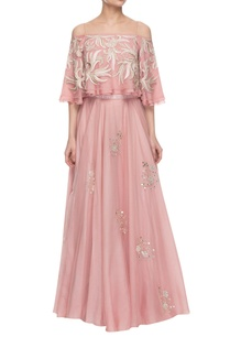 light-pink-embroidered-off-shouldered-top-skirt