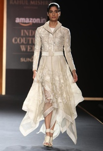 beige-hand-embroidered-bomber-jacket-with-asymmetrical-dress