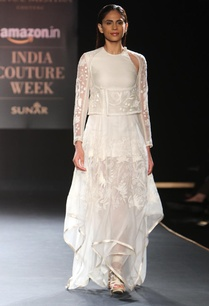 ivory-floral-hand-embroidered-asymmetrical-dress
