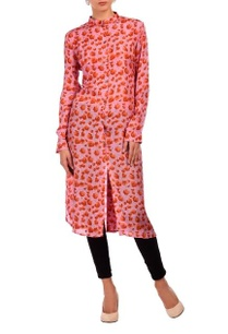 rose-pink-coral-floral-printed-tunic