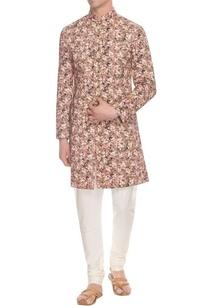rose-pink-ivory-olive-floral-printed-achkan