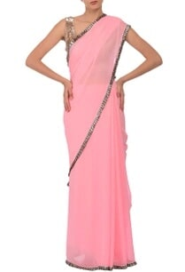 rose-pink-silver-sequin-embellished-sari