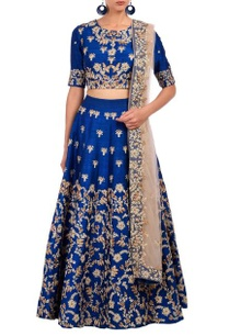 royal-blue-floral-embroidered-lehenga-set