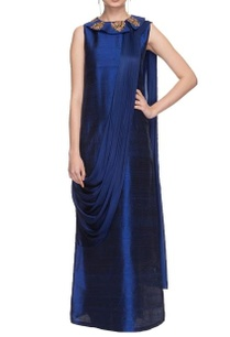 navy-blue-resham-embroidered-kurta-set