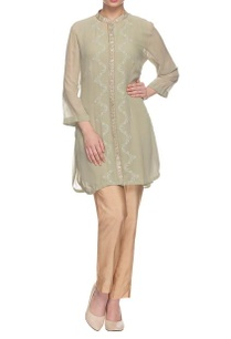 sage-green-embellished-kurta-with-collar