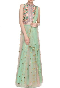sea-green-blue-floral-embroidered-lehenga-set