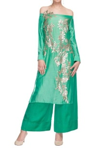 sea-green-embellished-off-shoulder-kurta-palazzo