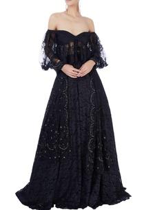 black-lace-lehenga-set