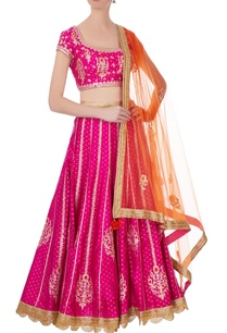 pink-orange-gota-thread-embroidered-lehenga-set