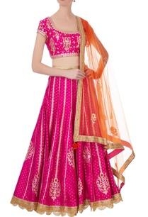 pink-orange-gota-thread-embroidered-lehenga-set
