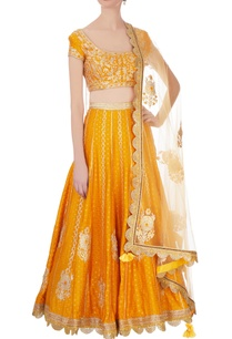 orange-brocade-gota-lehenga-set