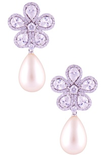 pearl-pear-cut-stone-earrings