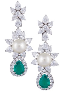 silver-turquoise-swarovski-chandelier-earrings