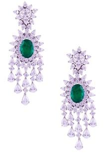 marquise-oval-set-stone-long-earrings