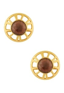 gold-plated-smokey-quartz-earrings