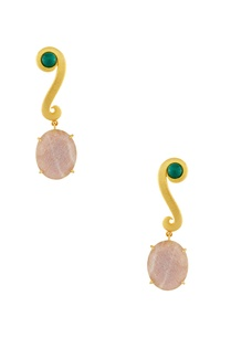 gold-plated-moonstone-earrings