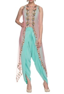sky-blue-jumpsuit-with-pink-embellished-cape