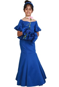 blue-fishcut-peplum-floor-length-gown