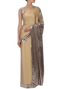 soft-beige-silver-sequin-embellished-sari