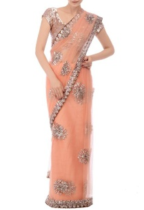 soft-peach-floral-embellished-sari