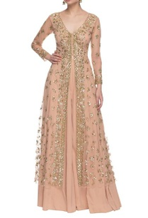 soft-peach-gold-sequin-embellished-palazzo-set