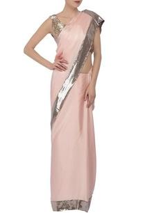 soft-pink-silver-sequin-embellished-sari