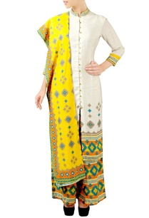 off-white-yellow-printed-kurta-set