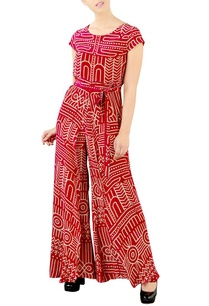 deep-pink-abstract-printed-jumpsuit