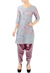 grey-pink-printed-kurta-set